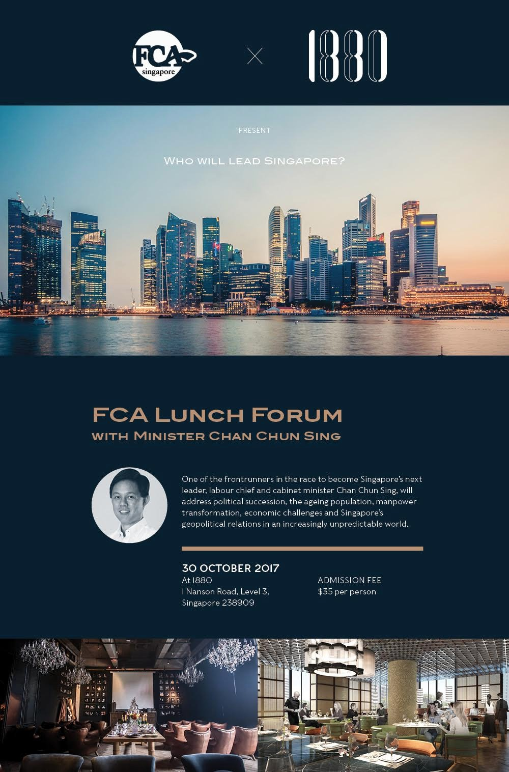 REGISTRATION CLOSED: FCA lunch forum with Minister Chan Chun Sing