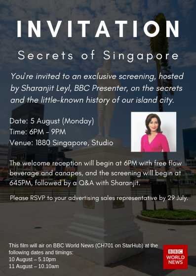 Invitation - Secrets of Singapore