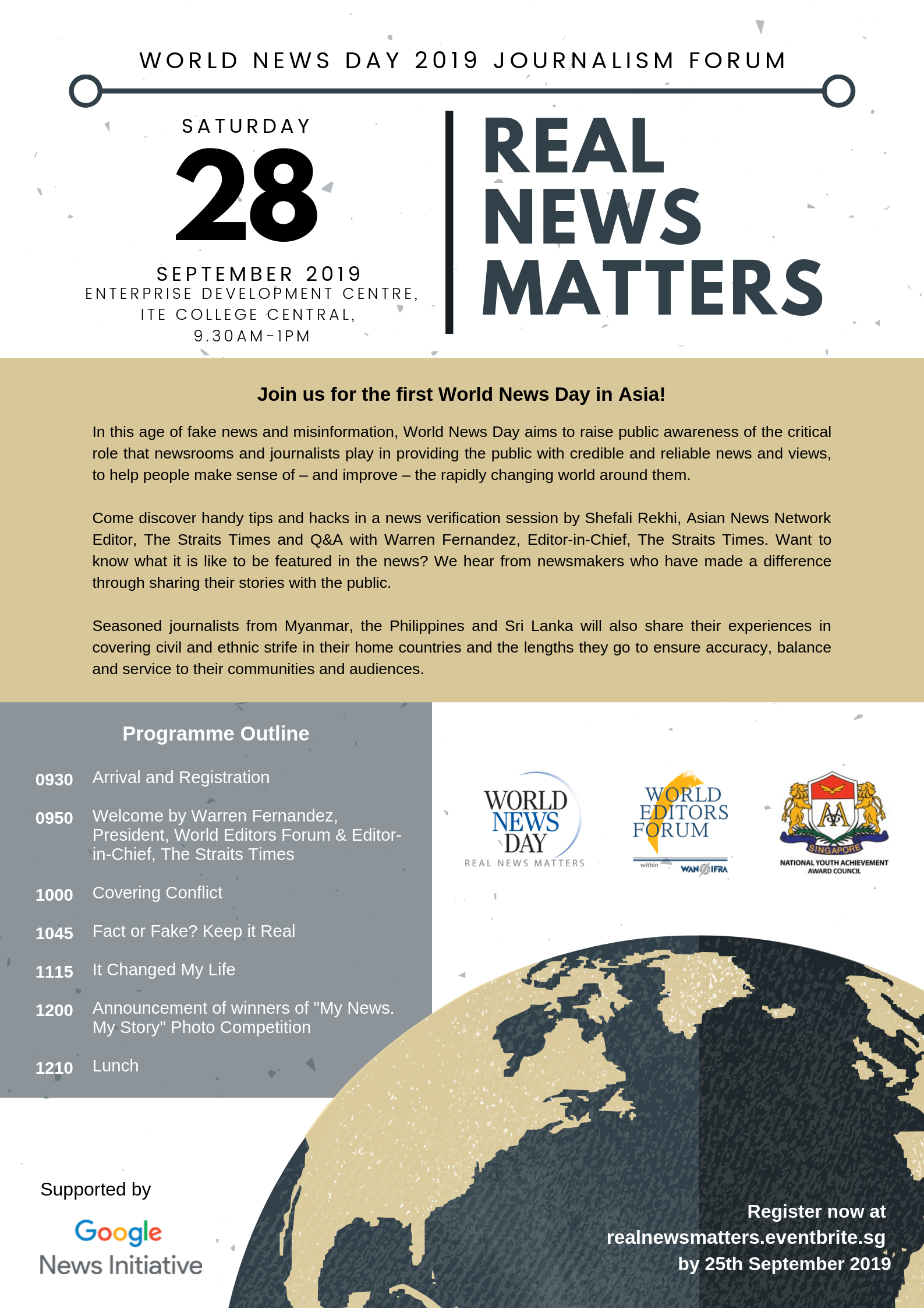 Journalism Forum: Real News Matters – World News Day